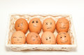 Funny eggs Stock Images