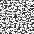 Funny emo skull seamless pattern Stock Photo
