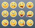 Funny emoticons grimace