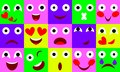 Vector flat emotions icon set