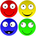 Funny emoticons vector illustration of a beautiful smiley Royalty Free Stock Images