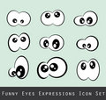 Funny Eves Expression Set Royalty Free Stock Photography