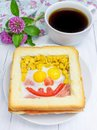 Funny Face On Baked Sandwich