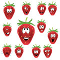 Funny face strawberries illustration