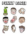 Funny faces collection creative design of Stock Images