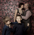 Funny family portrait Royalty Free Stock Images