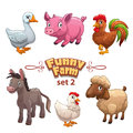 Funny farm illustration Royalty Free Stock Photo