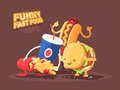 Funny fast food