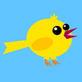 Funny fat bird vector style yellow Stock Images