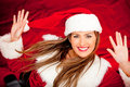 Funny female Santa Royalty Free Stock Photo