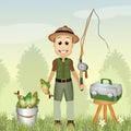Funny fisherman Royalty Free Stock Photo