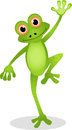 Funny frog cartoon Royalty Free Stock Photography