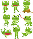 Funny frog cartoon collection Stock Photo