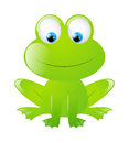 Funny frog isolated white Royalty Free Stock Images