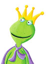 Funny Frog Prince Stock Photography