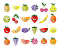Funny fruit characters smiling Royalty Free Stock Photography