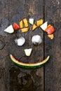 Funny fruit face Royalty Free Stock Photo