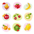 Funny Fruit Set Royalty Free Stock Photo