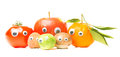 Funny Fruit And Vegetables With Eyes Royalty Free Stock Photo