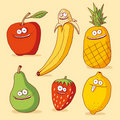 Funny fruits Royalty Free Stock Image