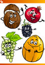 Funny fruits cartoon illustration set of comic food characters Royalty Free Stock Photo