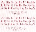 Funny full alphabet of circles and stars Royalty Free Stock Photo