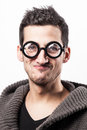 Funny geek Royalty Free Stock Images