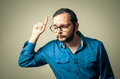 Funny geek with glasses Royalty Free Stock Photo