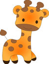 Funny giraffe - vector illustration Stock Image