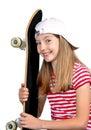 Funny girl skateboard