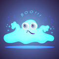 Funny glowing monster for you design Royalty Free Stock Photo