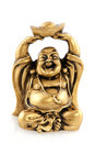 Funny golden Buddha Royalty Free Stock Images