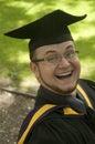 Funny graduate Stock Photography