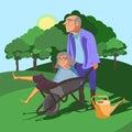 physical activity seniors vector illustration cartoondealercom