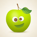 Funny green apple Stock Photography