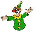 Funny green goof Royalty Free Stock Photo