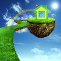Funny Green House. Royalty Free Stock Photo