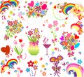 Funny greeting bouquets collection of Stock Image