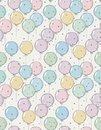 Funny Hand Drawn Colorful Balloons Vector Pattern. Cute Abstract Design.