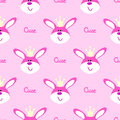 Funny hare head seamless, pattern