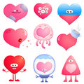 Funny hearts Royalty Free Stock Images