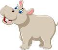 Funny hippo cartoon smiling Royalty Free Stock Photo