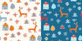 Funny holidays christmas pattern Stock Image