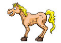 Funny horse illustration cartoon smiling available in vector eps format Royalty Free Stock Image