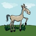 Funny horse sketch for your design vector illustration eps glad to see you in my portfolio Stock Image
