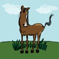 Funny horse sketch for your design vector illustration eps glad to see you in my portfolio Royalty Free Stock Photography