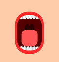 Funny illustration of a mouth