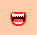 Funny illustration of a smiling mouth