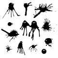Funny ink splashes set can used as design elements eps Stock Image