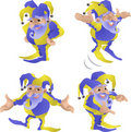 Funny Jester Poses Royalty Free Stock Photos